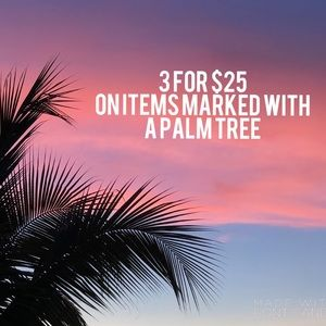 🌴🌴🌴3 for $25 Sale!